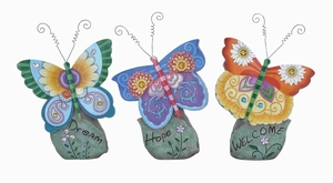"""Butterfly 3 Assorted 15""""H Casual Looking Colorful & Attractive Brand Woodland"""