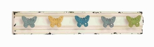 Butterfly Sassy Styled Metal Wall Hooks Brand Benzara