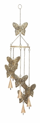 Butterfly Wind Chimes With Natural Decor Blend Brand Woodland