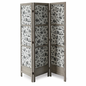 Cachet Fabric Screen Wood Frame Crafted with Artistic Detailing Brand Screen Gem