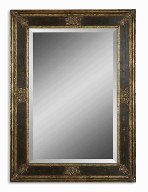 Cadance Small Mirror with Burnished Wood Tone Finish Brand Uttermost