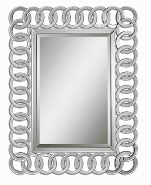 Caddoa Rings Wall Mirror with Interweaving Beveled Mirror Frame Brand Uttermost