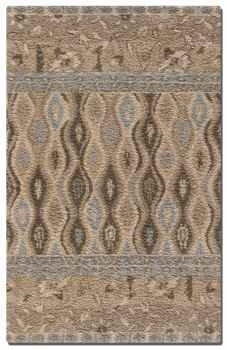Cadiz 5'Semi Twisted Wool Cut Rug in High Shag in Multi Shades. Brand Uttermost