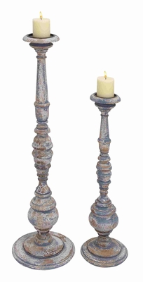 Caen Mesmerizing Vintage Candle Holder Set Brand Benzara
