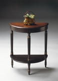 "Cafe Noir Demilune Console Table 24""W by Butler Specialty"