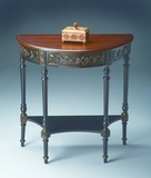 "Cafe Nouveau Demilune Console Table 30""W by Butler Specialty"