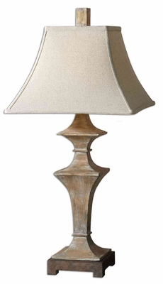 Cagliari Wood Table Lamp with Rustic Bronze Foot Brand Uttermost
