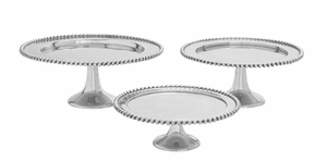 Party Aluminum Cake Stand Set/3 - 26201 by Benzara