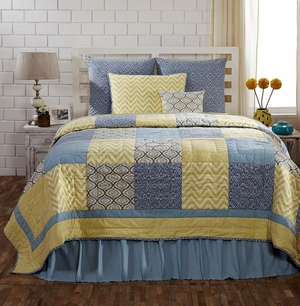 """Caledon Standard Sham Quilted 21"""" x 27"""" by VHC Brands"""