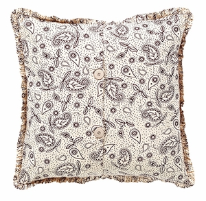 "Calistoga Fabric Pillow 16x16"" VHC Brand - 12405 Brand VHC"