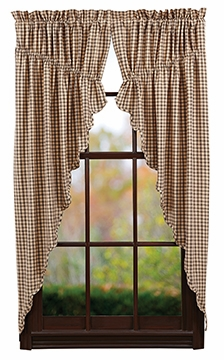"Calistoga Prairie Curtain Lined Set of 2-63x36x18"" VHC Brand - 12425 Brand VHC"