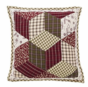 "Calistoga Quilted Pillow 16x16"" VHC Brand - 12432 Brand VHC"