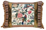 Calm Canton Garden - Cream Petit Point Pillow by 123 Creations
