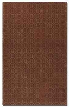 Cambridge Cinnamon 8' Red Wool Rug with Gold Geometric Design Brand Uttermost