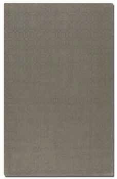 Cambridge Warm Grey 8' Grey Wool Rug with Taupe Geometric Design Brand Uttermost