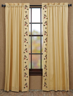 "Cambrie Lane Panel Bees Lined Set of 2 84x40"" Brand VHC"