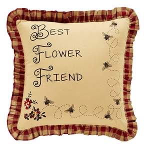 "Cambrie Lane Pillow BFF Stencil 16x16"" Brand VHC"