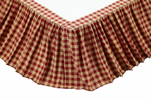 "Cambrie Lane Queen Bed Skirt 60x80x16"" Brand VHC"