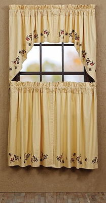 """Cambrie Lane Swag Bees Lined Set of 2 36x36x16"""" Brand VHC"""
