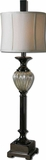 Camerana Metal Table Lamp with Black Nickel Detailing Brand Uttermost