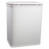 Cane Pattern Vinyl Nursery Hamper in particle board, high impact polystyrene, high gloss vinyl by Redmon