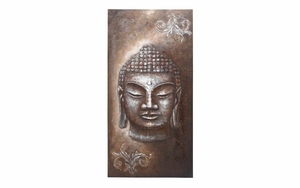 Canvas Art Buddha Head A Unique Religious Wall Decor Brand Woodland