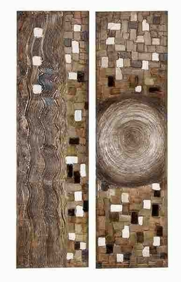 Canvas Painting Designed with Artistic Detailing - Set of 2 Brand Woodland