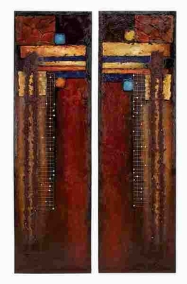 Canvas Painting Designed with Natural Texture - Set of 2 Brand Woodland