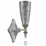 Capi z Collection Fascinating 1 Lights Wall sconce in Antique silver Gray by Yosemite Home Decor