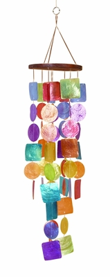 Capiz Shells Wind chime colorful Tinted Wind Chime 20x5 Brand Woodland