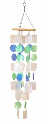 Capiz Shells Wind chime colorful Tinted Wind Chime 22x5 Brand Woodland