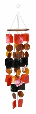 Capiz Shells Wind chime colorful Tinted Wind Chime 28x6 Brand Woodland