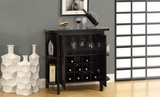"""Cappuccino 36""""H Bar Unit with Bottle and Glass Storage"""