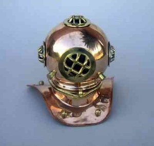 Captains Diver Helmet - Polished Brass Divers Helmet Brand IOTC