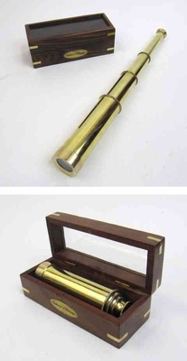 Captains Telescope - Flawless Pullout Telescope With Solid Brass Brand IOTC