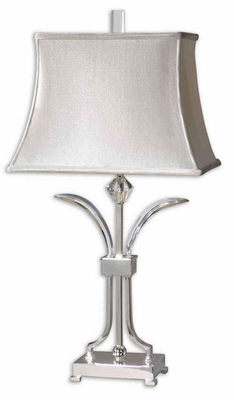 Carovilli Nickel Table Lamp with Crystal Detailing Brand Uttermost
