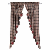 Carson Star Scalloped Prairie Curtain Set of 2 63x36x18 - 25380 by VHC Brands