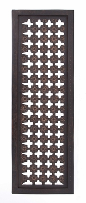 "Carved Long Wood Wall Decor Panel 48"" H x 16"" W Brand Woodland"