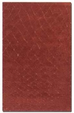 Casablanca 9' Tuscan Red Wool Rug with Burnt Gold Low Cut Details Brand Uttermost