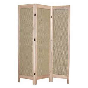Casablanca Fabric Screen Wood Frame with Artistic Detailing Brand Screen Gem