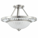Cascade Collection Classy Styled 3 Light Semi Flush Mount in Polished Nickel by Yosemite Home Decor