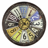 Casino Styled Fascinating Hildale Clock by Cooper Classics