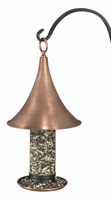 Castella Large Bird Feeder - Copper Finish by Good Directions