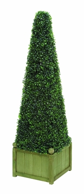 "Casual Style Polyester Pyramid Boxwood 45""Height Floral Decor Brand Woodland"