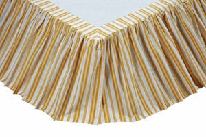 "Catalina Queen Bed Skirt 60x80x16"" Brand VHC"