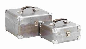 Catania Case Set Spacious Plus Antiqued Valuable Creation Brand Benzara