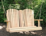 Cedar Adirondack Chair Style Porch Swing by Creekvine Design