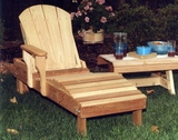 Cedar Adirondack Chaise Lounge by Creekvine Design