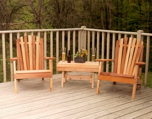 Cedar American Forest Adirondack Chair Collection by Creekvine Design
