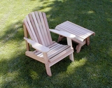 Cedar American Forest Adirondack Chair & Table Set by Creekvine Design